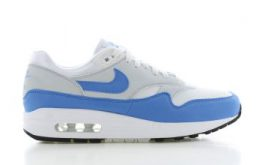 Nike Air Max 1 Wit/Blauw Dames