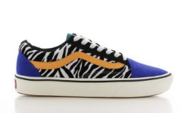 Vans ComfyCush Old Skool Zebra/Blauw Dames