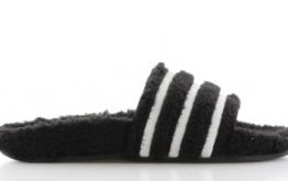 adidas Adilette Teddy-Fleece Zwart Dames