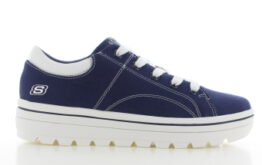 Skechers Street Cleats 2 Bring it Blauw Zwart Dames