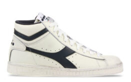 Diadora Game L High Waxed Wit/Donkerblauw Dames